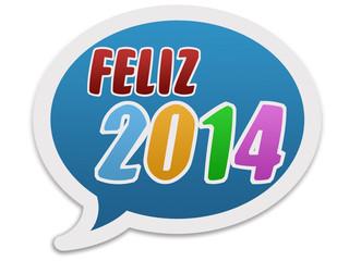 Balão a desejar um feliz 2014