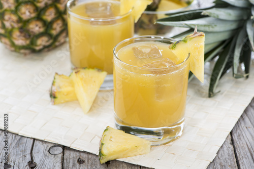 Portion of fresh Pineapple Juice