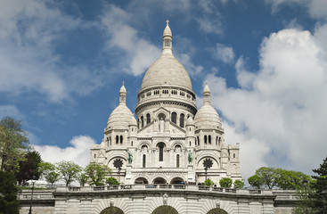 Sacred Heart of Jesus, Montmartre hills, Paris, France
