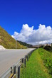 Roadside view at Cameron Highland with super blue sky