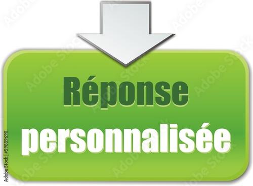 bouton réponse personnalisée