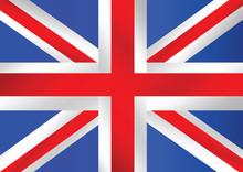 Wielka Brytania flaga królestwo lub flaga brytyjska