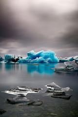 Blue glacier ice Iceland