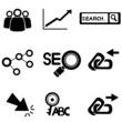 SEO icons, search engine optimization