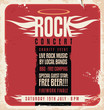 Rock concert retro poster design - 59892043