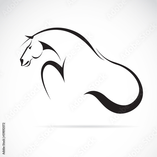 Vector image of an horse