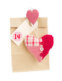 paper bag  for valentines day  14 with heart
