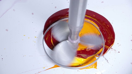 bright multicoloured paints