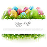 Easter background with copyspace