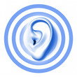 Ohr mit konzentrischen Kreisen