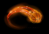 Fototapety Basketball comet