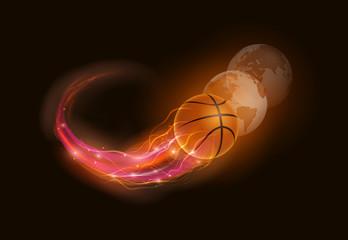 Basketball comet