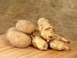 topinambur und kartoffel