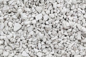 Crushed white stone background