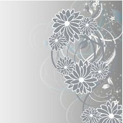gris et fleurs
