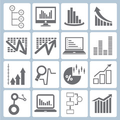 graph icons, chart icons set, data form