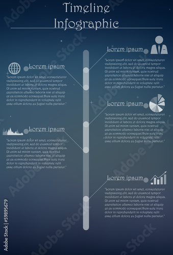 Timeline infographics-vector illustration