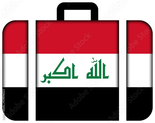 Suitcase with Iraq Flag
