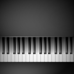 Piano keys on black background