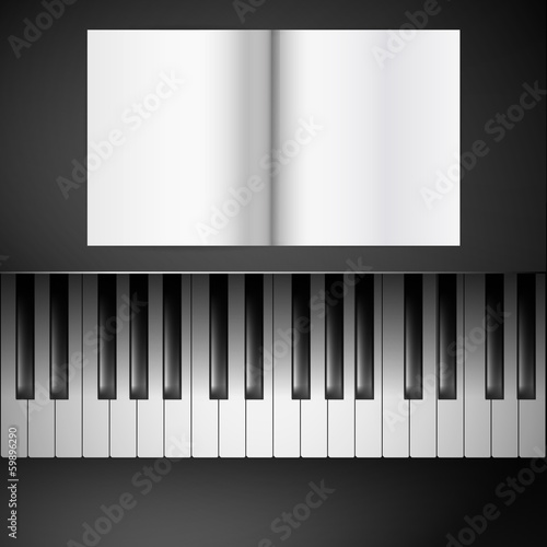 sheetmusic on piano