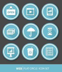 Web icons,Blue version,vector