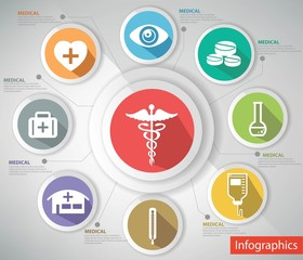 Medical concept,abstract,Co lorful version,vector