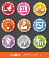 Strategy,Business buttons,colorful version,vector