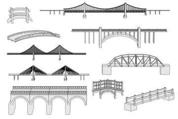 cartoon image of bridges set