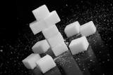 Kreuz aus Zuckerwürfel - Diabetes