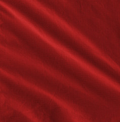 crumpled red fabric texture