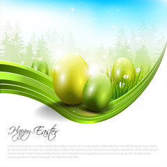 Sweet Easter background with copyspace