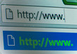 Internet browser close up