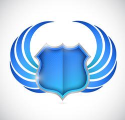 shield protection illustration design