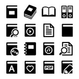Book icons set on white background
