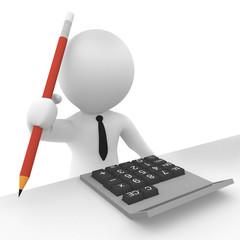 Rechnung berechnen mit Taschenrechner