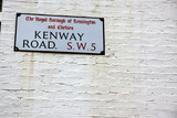 London Street Sign, Kenway Road, Borough of Kensington and Chels poster
