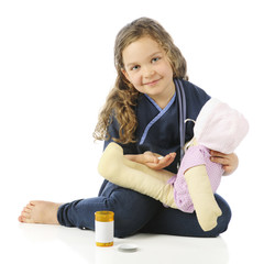 Providing Pills for Sick Dolly