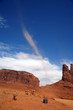 Little tornado in Monument Valley, Navajo Tribal Park, Arizona,