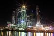 Beautiful night view Skyscrapers City international business cen