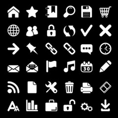White Web icons set