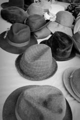 old cloth hats