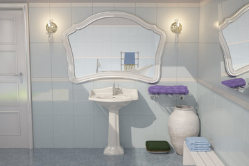 Baño Azul Clásico