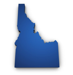 Map Of Idaho 3d Shape