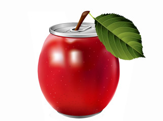 aluminum apple can.