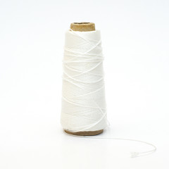 Background of natural cotton thread