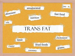 Trans Fat Corkboard Word Concept