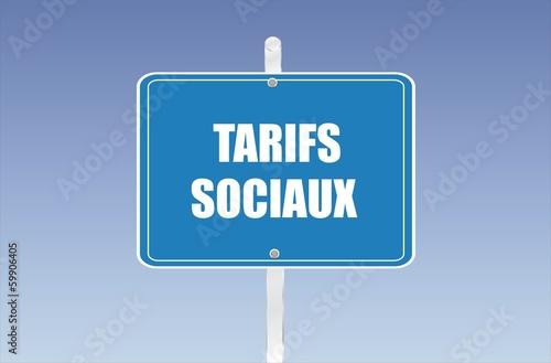 panneau tarifs sociaux