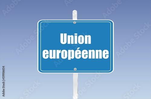 panneau union européenne