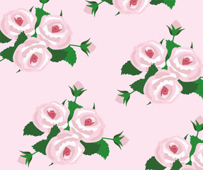 vector rose seamless background