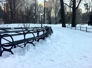 Gran Nevada en Central Park en New York